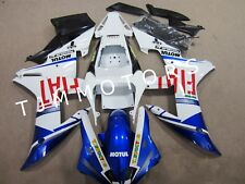 For YZF R1 2002 2003 ABS Injection Mold Bodywork Fairing Kit White Blue Fiat