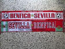lotto 2 sciarpe SEVILLA - BENFICA final europa league 2014 scarf lot