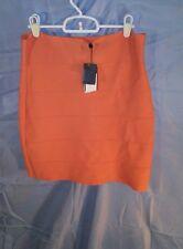 BCBG Max Azria Bandage Mini Skirt Mango sz L NWT