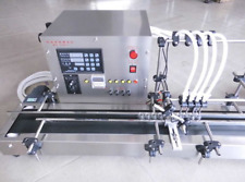 Four heads full automatic liquid filling machine 10-500ml STAINLESS u