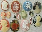 * SALE * VTG CAMEOS 40x30mm HUGE LOT 2S JEWELRY SETS RESIN FINDINGS REPAIR CRAFT
