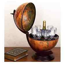 Globe Wine Bar Antique Vintage Retro Cabinet Drinks Container Elegant Minibar UK