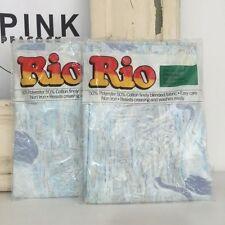 VINTAGE Rio Pillow Cases PAIR Cotton Blend RETRO Fun 70's Standard Case BEDDING
