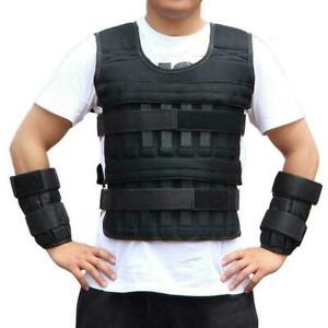 20kg Adjustable Weighted Vest Jacket Boxing Training Waistcoat Weight Vest NEW