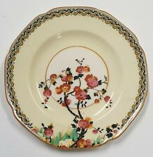 CROWN DUCAL: Blossom Pattern Saucer and Small Plate