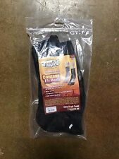 TOUGH 1 Neoprene Spine Contour Fly Boots for Horses Easy On/Off Black 2-pk