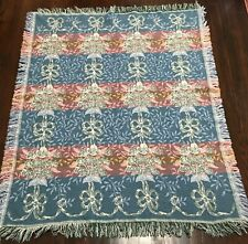 """Unbranded Woven Floral Throw Blanket Munti-color 57""""L X 47""""W"""