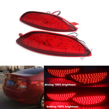 2X LED For Hyundai Accent Verna 2008 2009-2015 Rear Bumper Reflector Brake Light