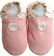 shoeszoo soft sole leather toddler shoes  plain pink 3-4y S