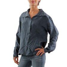 Maglie e camicie da donna camicetta in seta grigia