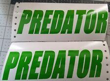 Predator windshield decal Motorcycle decals, Sticker Gas Tank decal ATV