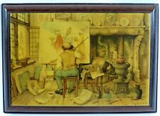 ANTON PIECK 'The Artist' Mahogany Block Print