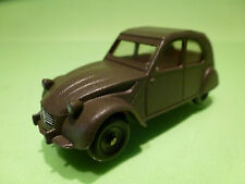 DINKY TOYS  - 558 CITROEN 2CV  - ARMY MILITARY  - CODE 3 RESTORED CONDITION