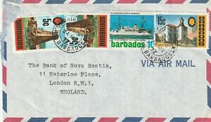 1972 Barbados cover sent to London