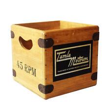"Tamla Motown Record box 7"" Vinyl Record Box LP Vintage Wooden Album Crate Retro"