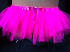 Flo/Neon Pink Tutu 80's Fancy Dress, Hen Party, Race For Life. One Size 8-14