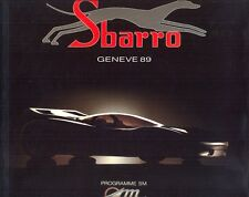 SBARRO Geneva 1989 full range sales brochure