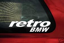 2x Retro BMW Pegatinas. para E30, E21, E34, M3, M5 E28, 325is