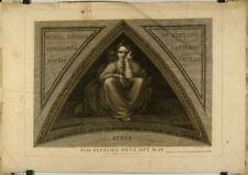 Burin de Savorelli d'après Michel-Ange,Chapelle Sixtine