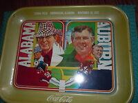 VINTAGE ALABAMA CRIMSON TIDE AUBURN FOOTBALL COCA COLA TRAY BEAR BRYANT 1975