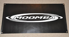 "BLACK MOOMBA BOATS BANNER 48"" * 24"" BANNER for wakeboard With STICKER DECAL"