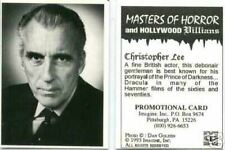 Masters of Horror promotional card 1 [Christopher Lee]