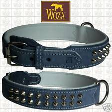Premium Hundehalsband Vollleder WOZA Lederhalsband Bull Soft Rindnappa HG7105