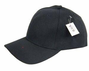Bulk Lot x 12 Plain Black Baseball Caps Hat New