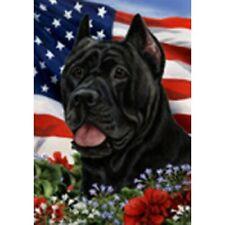 Patriotic (1) House Flag - Black Cane Corso 16156