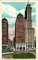 Vintage Postcard - Court Street and Skyscrapers Brooklyn New York NY #3489