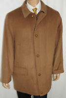 XL PAUL FREDRICK Car Coat $495 Men Brown Cashmere Blend Overcoat