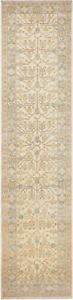 2.5X12 Hand-Knotted Khotan Carpet Oriental Ivory Fine Wool Runner Rug D51542