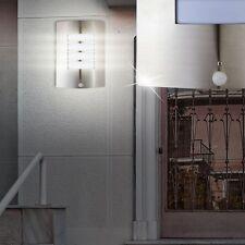Luxus Außenlampe silber Wandleuchte Bewegungsmelder BxHxT 23x31x10,5 cm 1-flg