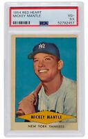 Mickey Mantle 1954 Red Heart New York Yankees Baseball Card PSA VG+ 3.5