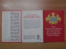 depliant pubblicitario LE GRANDI FAMIGLIE D EUROPA Mondadori raccolta bollini di