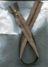 22 inch Light Brown & Brass #5 Separating YKK Zipper New!