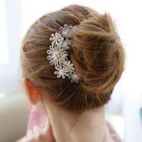 Hairwear Crystal Jewelry Pin Clip Hair Comb Accessories 1pcs Flower Rhinestone