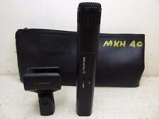 SENNHEISER MKH 40 P48 CARDIOID CONDENSER MICROPHONE WITH CLIP & POUCH LQQK MINT!