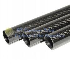 2pcs 3k Carbon Fiber Tube OD 18mm x ID 16mm x Length 500mm (Roll Wrapped) Glossy