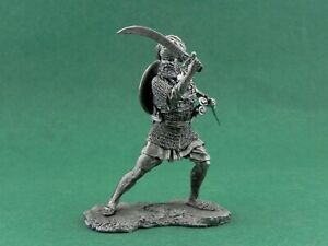 Tin toy soldier The Akali warrior of the Sikh army. Metall sculpture 54 mm