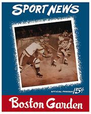 1946 Stanley Cup Finals (Bruins vs Canadiens) Program Cover - 8x10 Color Photo