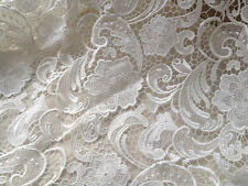 Floral Venice Lace Fabric White Guipure Lace Fabric Bridal Wedding Dress 1 yard