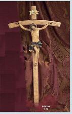 Crocifisso 75 cm appendibile, in resina e legno by Paben