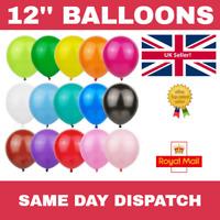 "20X - 12"" LATEX PARTY BALLOONS - Helium / Air - Birthday,  Wedding, Christening"