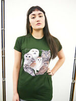 Wildlife Owl Collage T shirt, Owl Tee, Owl Top, Owls, Harry Potter, Unisex, New