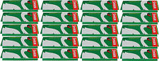 20 x REGULAR SIZE SWAN GREEN CIGARETTE ROLLING PAPERS - 50 PAPERS PER PACK