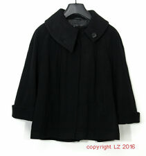 P951/36 Menuetto by Berghause Wool/Cashmere Women's Black Cape Jacket, UK 16