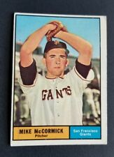 ORIGINAL1961 TOPPS SAN FRANCISCO GIANTS BASEBALL CARD #305 MIKE MCCORMICK EXCELL