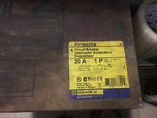 NEW SEALED BOX FH16020B Square D SQD Type FA Circuit Breaker 1 Pole 20 Amp 277V