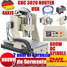 4 ASSI CNC Fresatrice di ingegneria Macchina per incidere USB 3020 ROUTER 0.8KW
